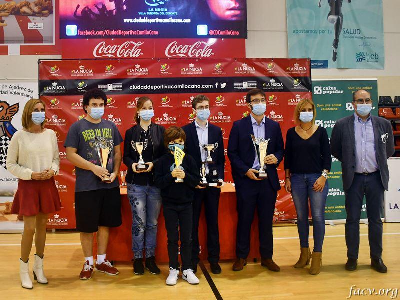 vencedores en el torneo de ajedrez