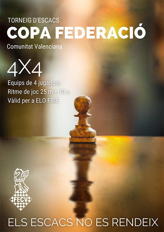 carte torneo con figura del peón y rey del ajedrez