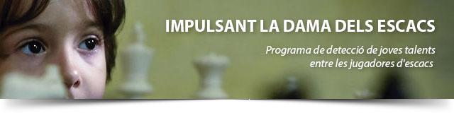 banner con niña y ajedrez