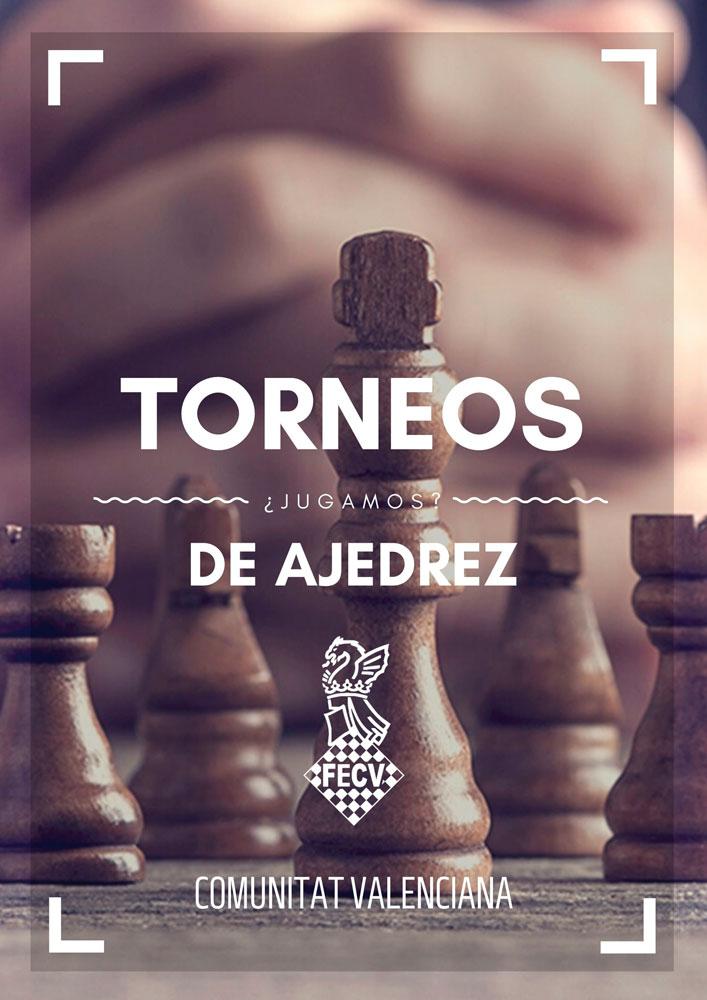 cartel con ajedrez y manos cruzadas
