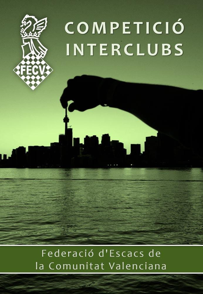cartel con un perfil de ciudad de costa y una mano