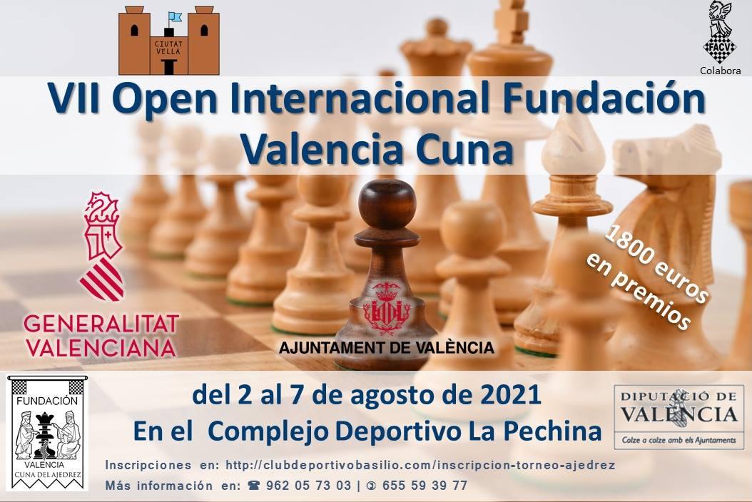 cartel torneo ajedrez con figuras del juego