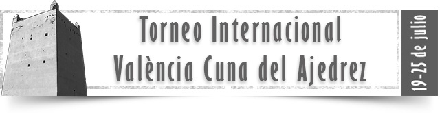 banner del torneo internacional de ajedrez Valencia Cuna