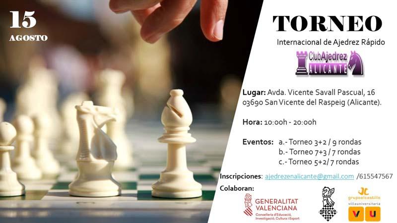 cartel con figuras de ajedrez