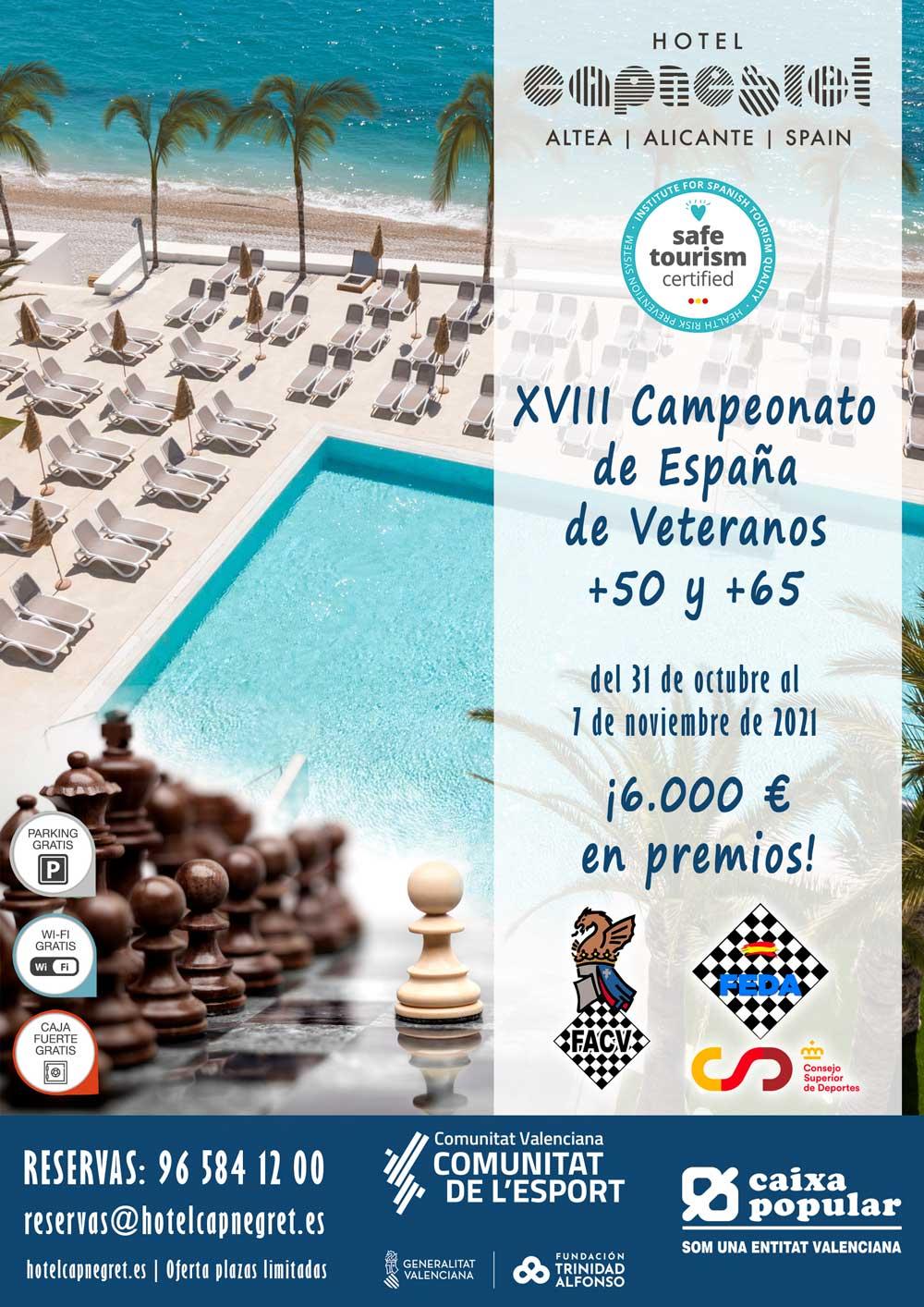 cartel de torneo con foto del hotel