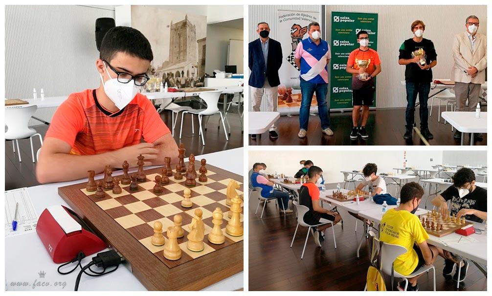 jugador de ajedrez con tablero