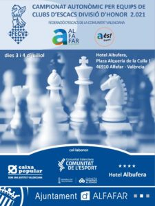 cartel con unas piezas de ajedrez