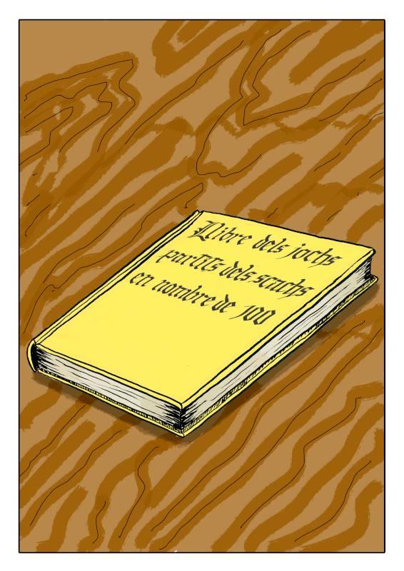 la portada del libro en el cómic