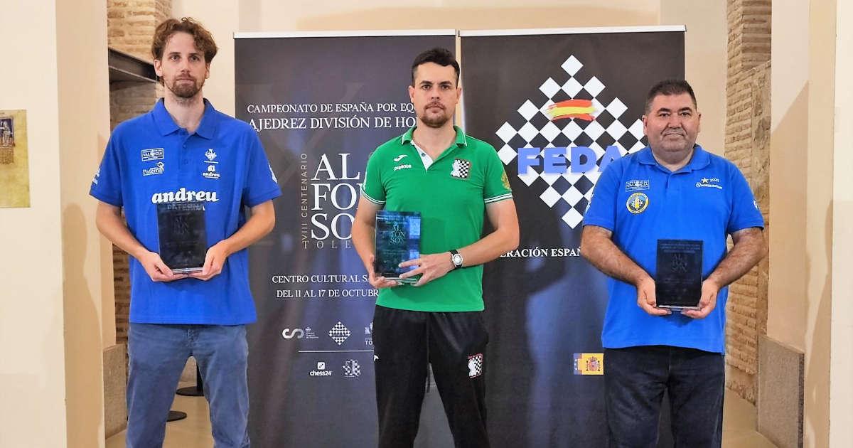 tres equipos premiados